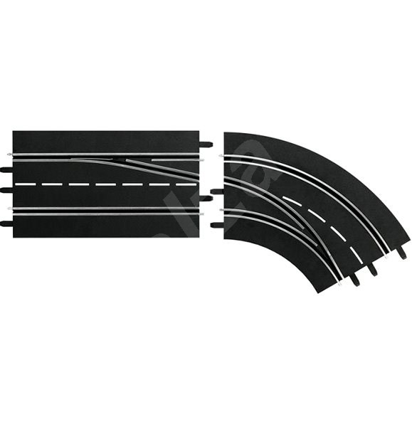 Carrera DIGITAL 132/124 - 30365 Lane Change Curve, Right (Out to In) - Slot Cart Track Accessory