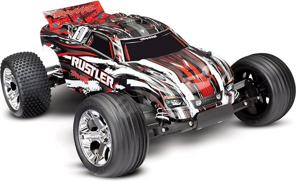 Traxxas Rustler 1:10 RTR Red - RC Remote Control Car