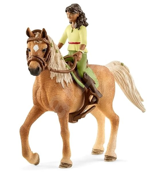 Schleich Brunette Sarah and Horse Mystery - Game Set