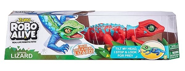 Robo Alive Red Lizard - Interactive Toy