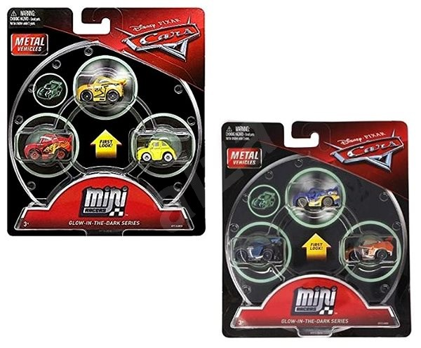 Cars 3 Mini Glow-in-the-dark Cars - Toy Vehicle