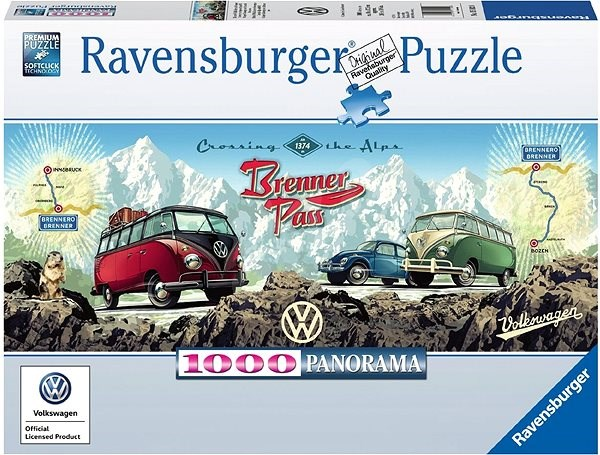 Ravensburger Crossing the Alps Brenner Pass with VW - Puzzle