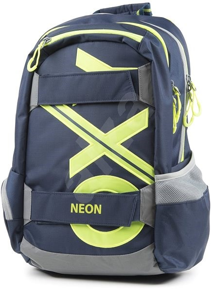 OXY Sport Blue Line Green - School Backpack