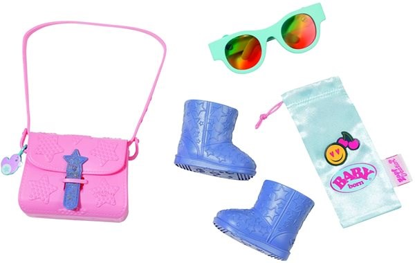 BABY Born Boutique Set of Handbags, Booties and Accessories - Doll Accessory