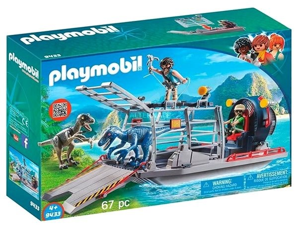 Playmobil 9433 Enemy Airboat with Raptor - Building Kit