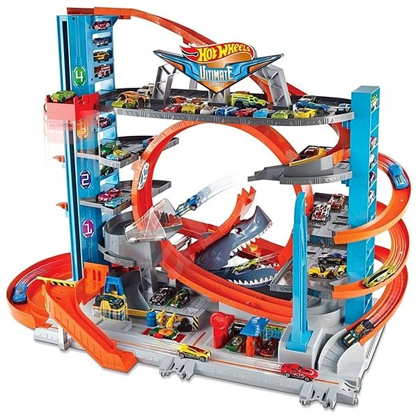 Hot Wheels City Garage with Loop - Slot Car Track