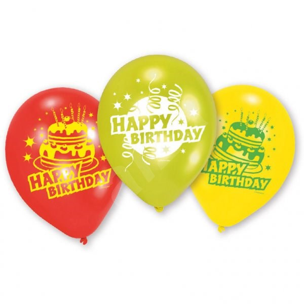 Amscan Happy Birthday Balloons 6pcs - Game set