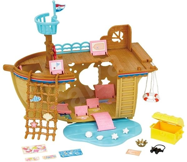 Sylvanian Families Adventure Treasure Ship - Game set