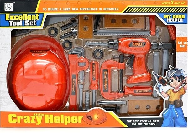 Large set of tools and helmet and hash - Game set | Alzashop com