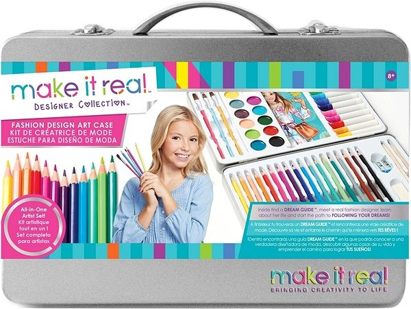 Make It Real Fashion Design Art Case Coloured Pencils Alzashop Com