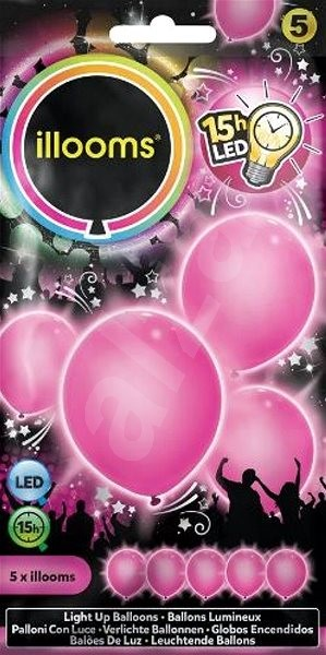LED balloons - pink 4 pcs - Game set