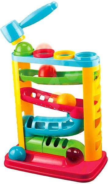 Teddies Ball track with a hammer - Ball Track