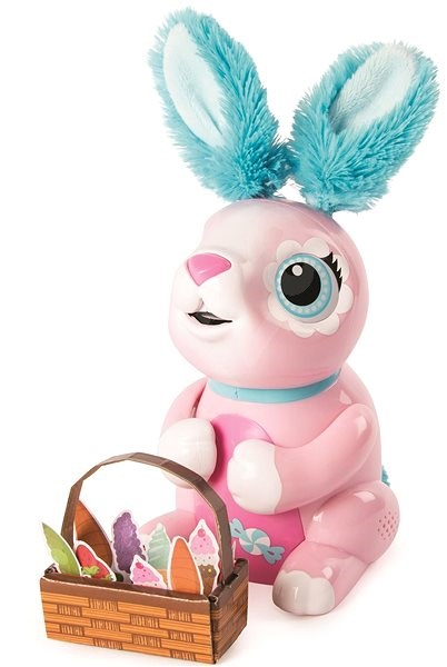 Zoomer Hungry Bunny Pink - Interactive Toy