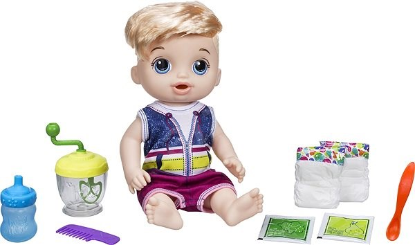 Baby Alive Blonde Baby Boy with Mixer - Baby