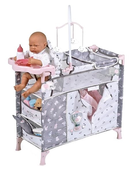 DeCuevas 53035 Collapsible Doll Bed with 5 Functional Accessories SKY 2020 - Doll Furniture