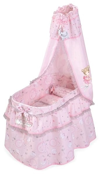 DeCuevas 51034 Magic Maria Doll's Crib with Canopy and Magic Maria 2020 Accessories - Doll Furniture