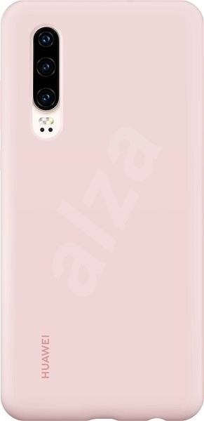 Huawei Original Silicone Car Case Pink for P30 - Mobile Case
