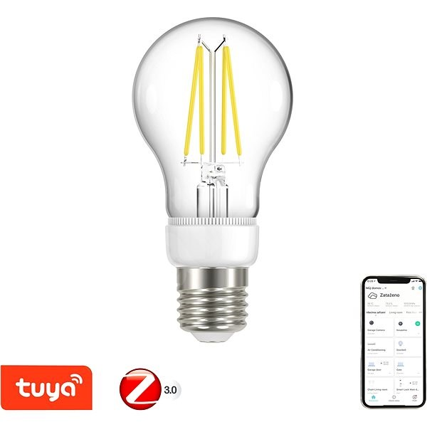 Immax Neo SMART Filament E27 6.3W, Warm White, Dimmable, Zigbee 3.0 - LED Bulb
