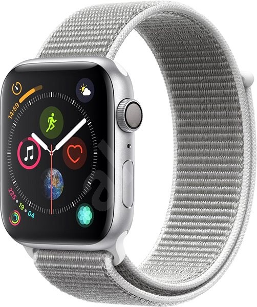 Apple Watch Series 4 44mm Silver Aluminum Case with Seashell Sport Loop - Smartwatch