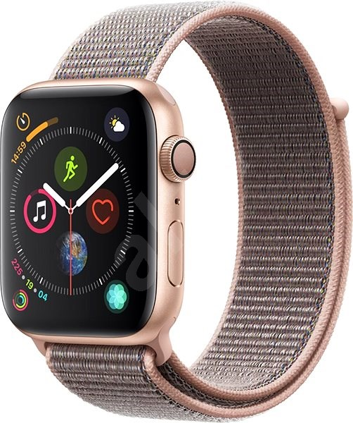 Apple Watch Series 4 44mm Gold Aluminum Case with Pink Sand Sport Loop - Smartwatch