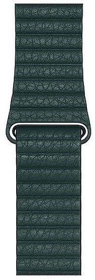 Apple 42mm/44mm Forest Green Leather Loop - Medium - Watch band