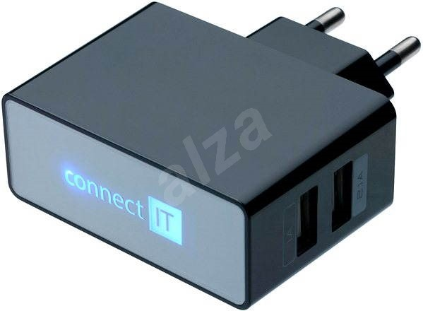 CONNECT IT CI-153 Dual Charger 230V, Black - AC Adapter