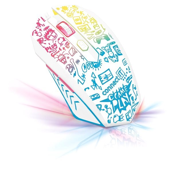 CONNECT IT DOODLE WHITE Limited Edition - Gaming Mouse