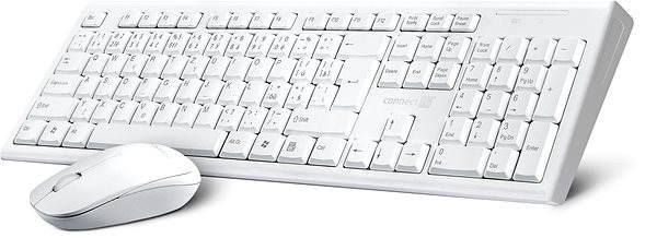 CONNECT IT CI-1118 Combo CZ + SK, white - Mouse/Keyboard Set