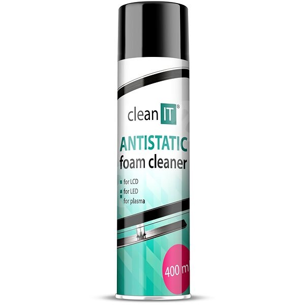 CLEAN IT Antistatic Foam Cleaner for LCD/LED/Plasma Screens 400ml - Cleaner