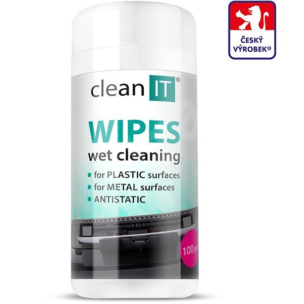 CLEAN IT Cleaning Wet Wipes for Plastics 100 pcs - Cleaner