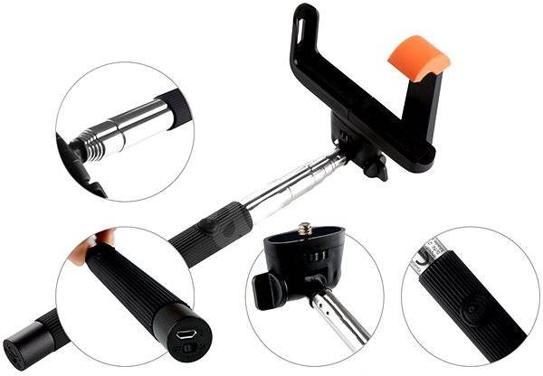 Gogen BT Selfie 2 telescopic black - Selfie-Stick