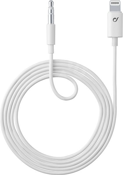 Cellularline Aux Music Cable Lightning Connector + 3.5mm jack MFI certification white - Audio Cable