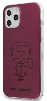 Karl Lagerfeld PC/TPU Metallic Iconic for Apple iPhone 12/12 Pro, Pink - Mobile Case