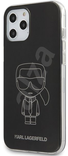 Karl Lagerfeld PC/TPU Metallic Iconic for Apple iPhone 12 Pro Max, Black - Mobile Case