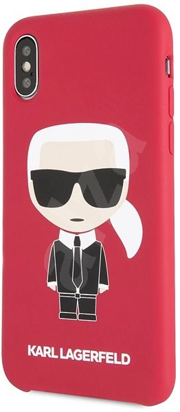 Karl Lagerfeld Iconic Bull Body for iPhone X/XS, Red - Mobile Case