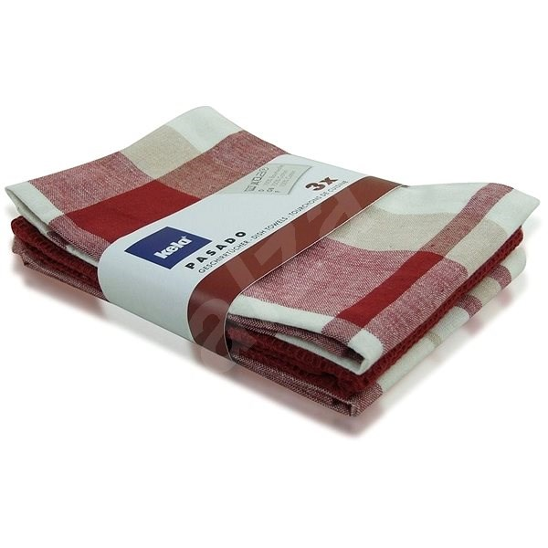 Kela PASADO Dish Cloth 3pcs, Red KL-15963 - Dish towel