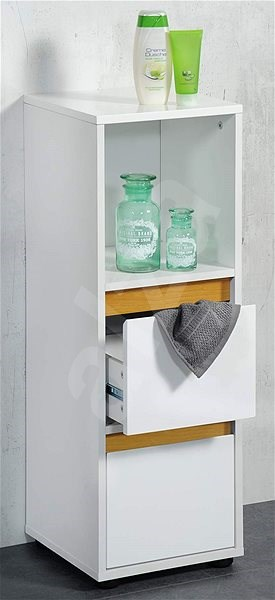 Kesper Storage Unit with two drawers - white - Shelf