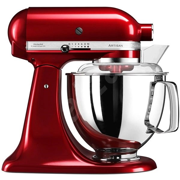 KitchenAid Robot Artisan 5KSM175, Metallic Red - Food Processor ...