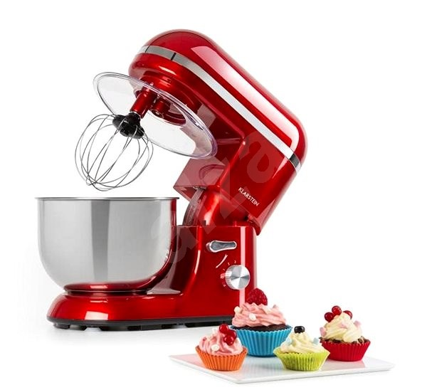 Professional Food Processor and Blender Red 1300W