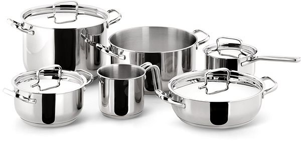Lagostina by Tefal Stainless Steel 10-piece Cookware Set 10740600010 - Pot Set