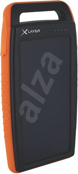 XLAYER Powerbank PLUS Outdoor Solar 15000mAh black/orange - Powerbank