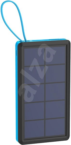 XLAYER Powerbank PLUS Solar 10000mAh black / blue - Powerbank