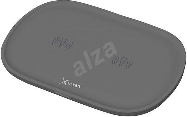 XLAYER Wireless Charging Pad Double, Anthracite - Wireless Charger Stand