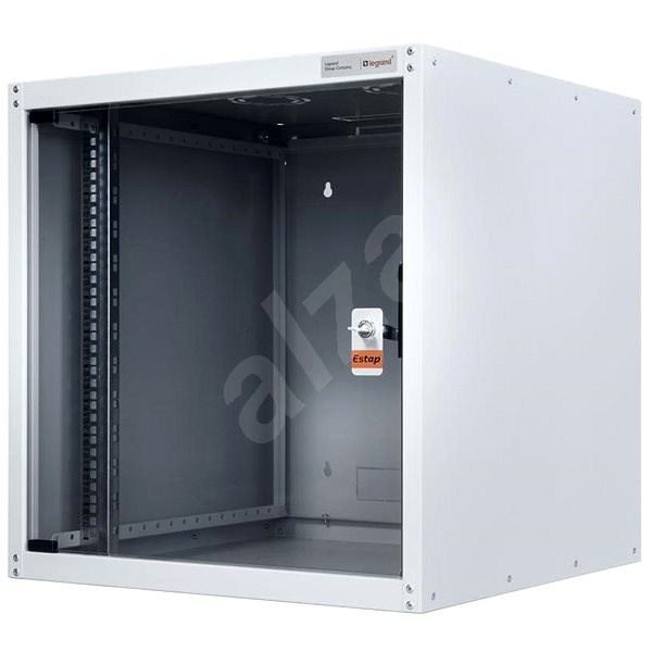 Legrand EvoLine Wall-mounted Data Cabinet 12U, 600 x 600mm, 65kg, Glass Door - Rack