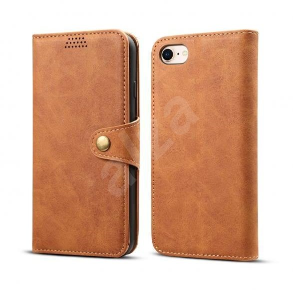 Lenuo Leather for iPhone SE 2020/8/7, Brown - Mobile Phone Case