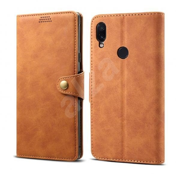Lenuo Leather for Xiaomi Redmi Note 7, Brown - Mobile Phone Case