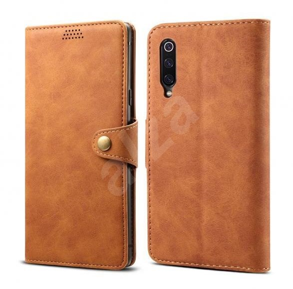 Lenuo Leather for Xiaomi Mi 9, Brown - Mobile Phone Case