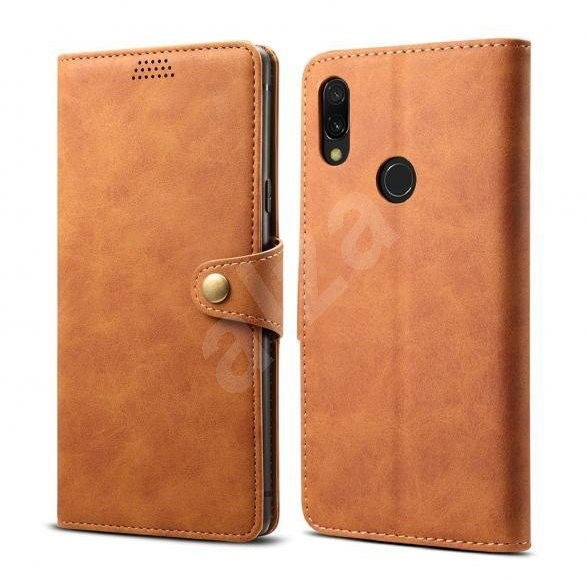 Lenuo Leather for Xiaomi Redmi 7, Brown - Mobile Phone Case