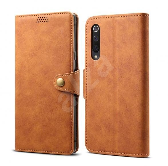 Lenuo Leather for Xiaomi Mi 9 SE, Brown - Mobile Phone Case