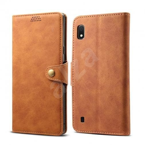 Lenuo Leather for Samsung Galaxy A10, Brown - Mobile Phone Case